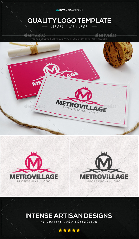 Metro Village Logo Template - Crests Logo Templates