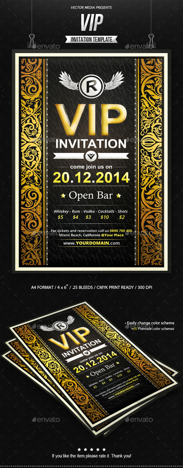 VIP - Invitation - Invitations Cards & Invites