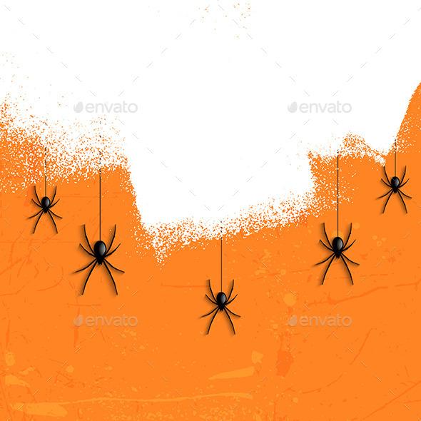 Grunge Halloween Spiders - Halloween Seasons/Holidays