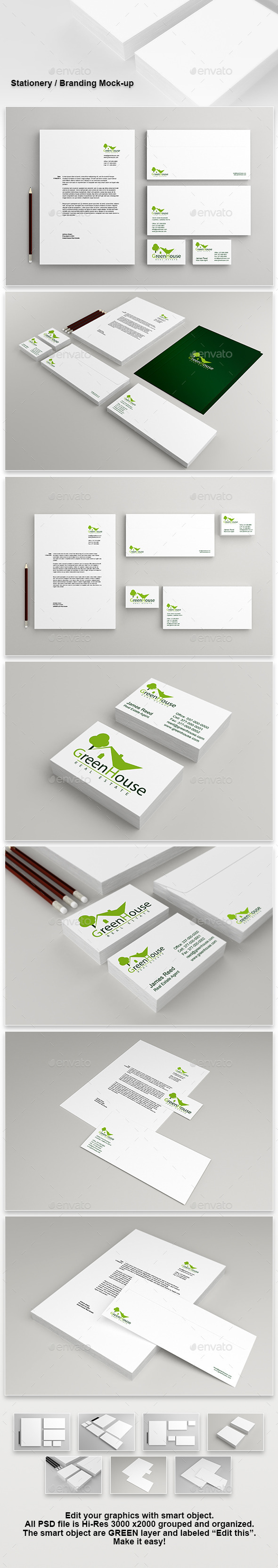 Stationery - Branding Mock-Up - Stationery Print