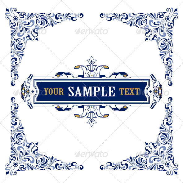 Vintage Frame Border Emblem - Borders Decorative