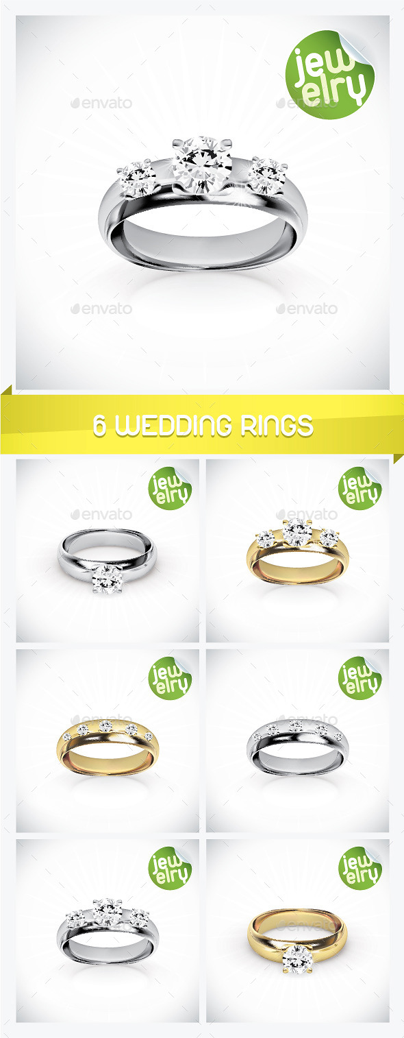 6 Wedding Rings - Weddings Seasons/Holidays