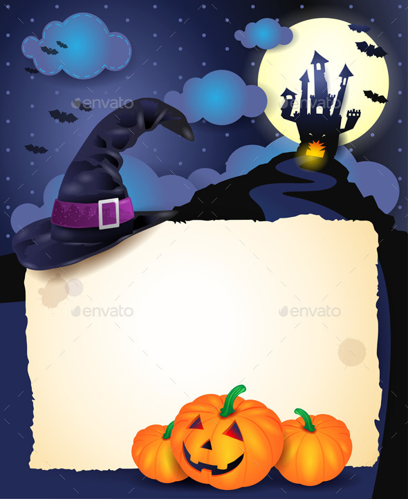 Halloween Background with Parchment - Halloween Seasons/Holidays