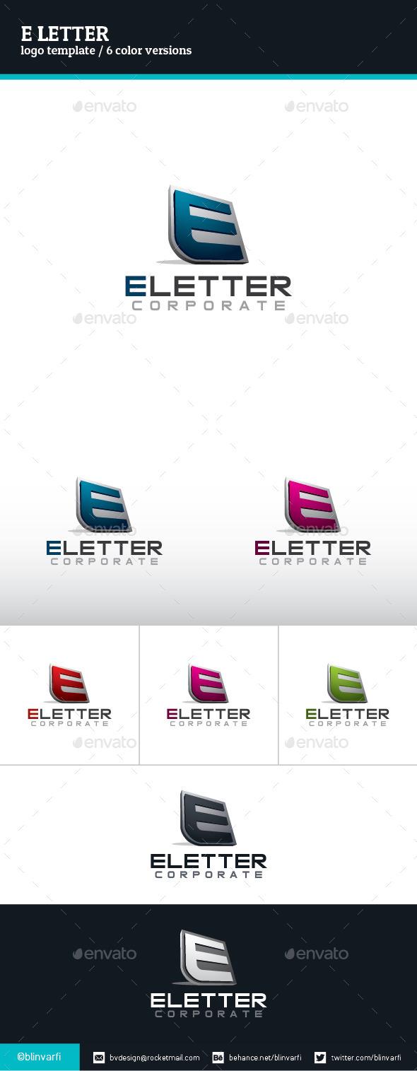 E Letter Logo Template - Letters Logo Templates