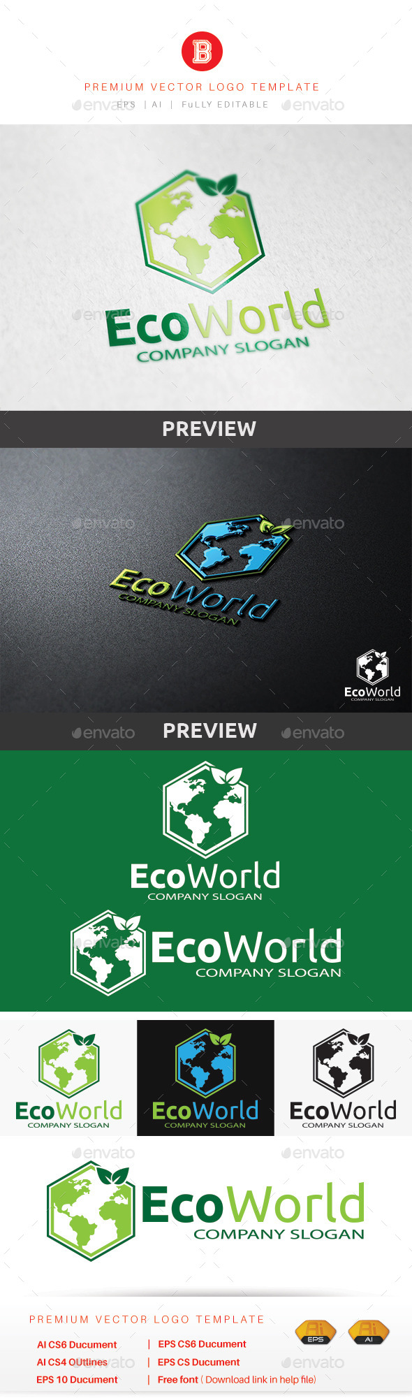 Eco World - Nature Logo Templates