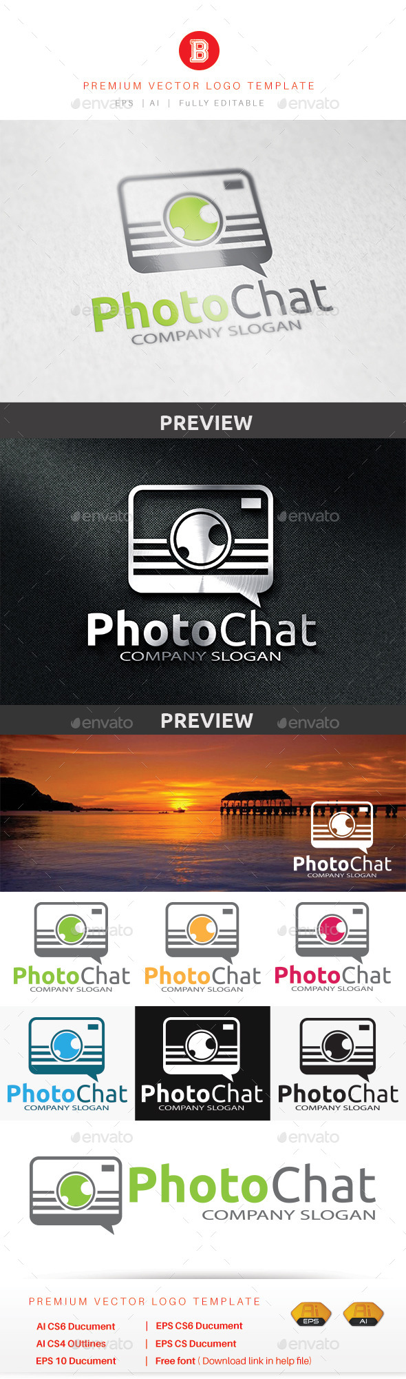 Photo Chat - Objects Logo Templates