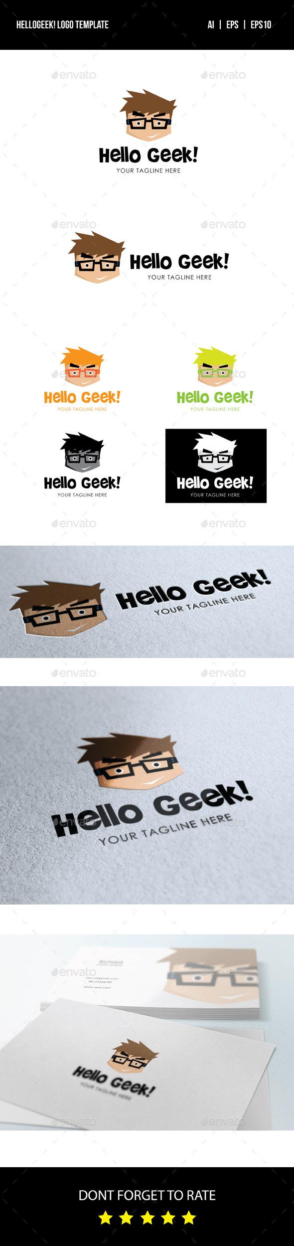 Hello Geek Logo - Humans Logo Templates