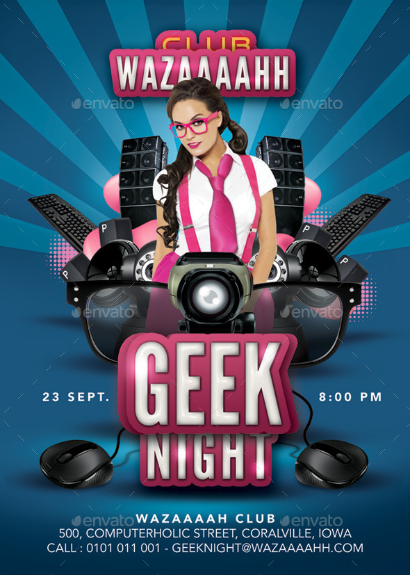 Special Geek Night Party In Club - Clubs & Parties Events