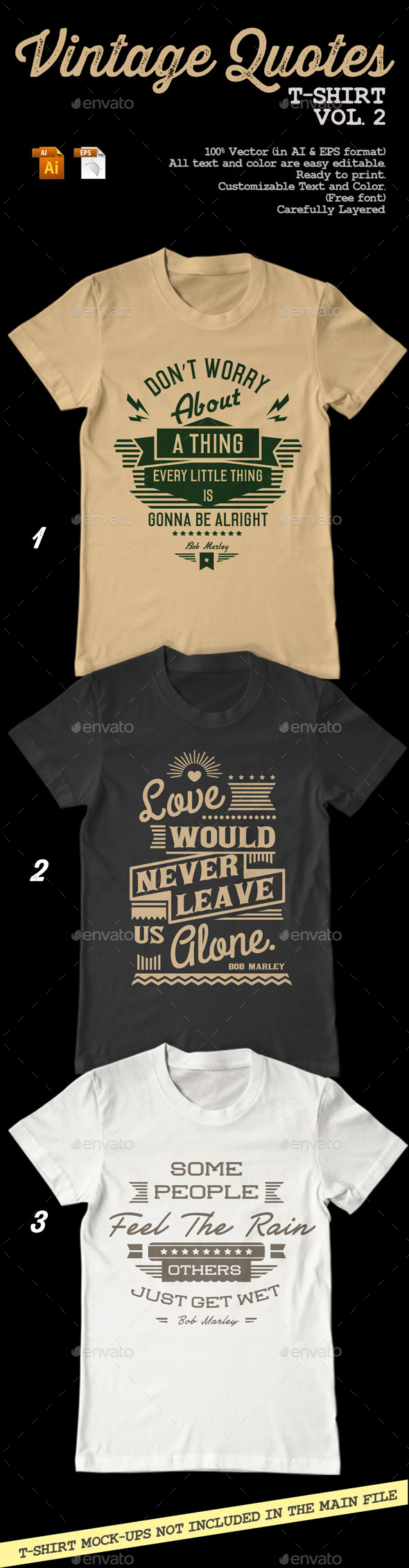 Vintage Quotes T-Shirt Vol. 2 - T-Shirts