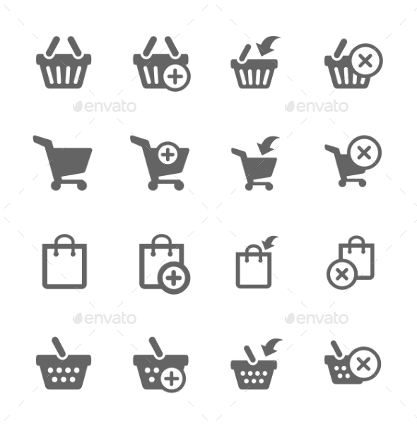 Shopping Bags and Carts - Web Icons