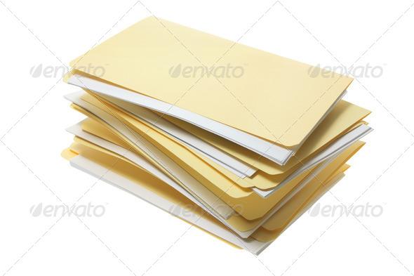 Manila File Folders - Stock Photo - Images