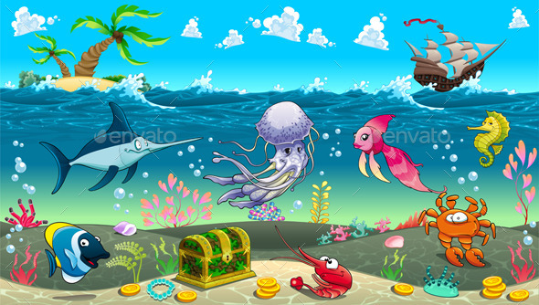 Scene Under the Sea - Animals Characters