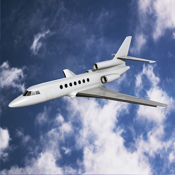 Dassault Falcon50 business jet - 3DOcean Item for Sale