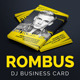 Rombus - DJ Business Card - GraphicRiver Item for Sale