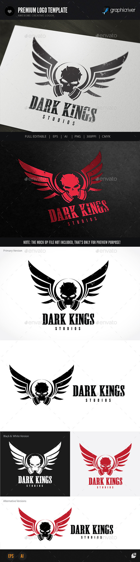 Dark Kings - Crests Logo Templates