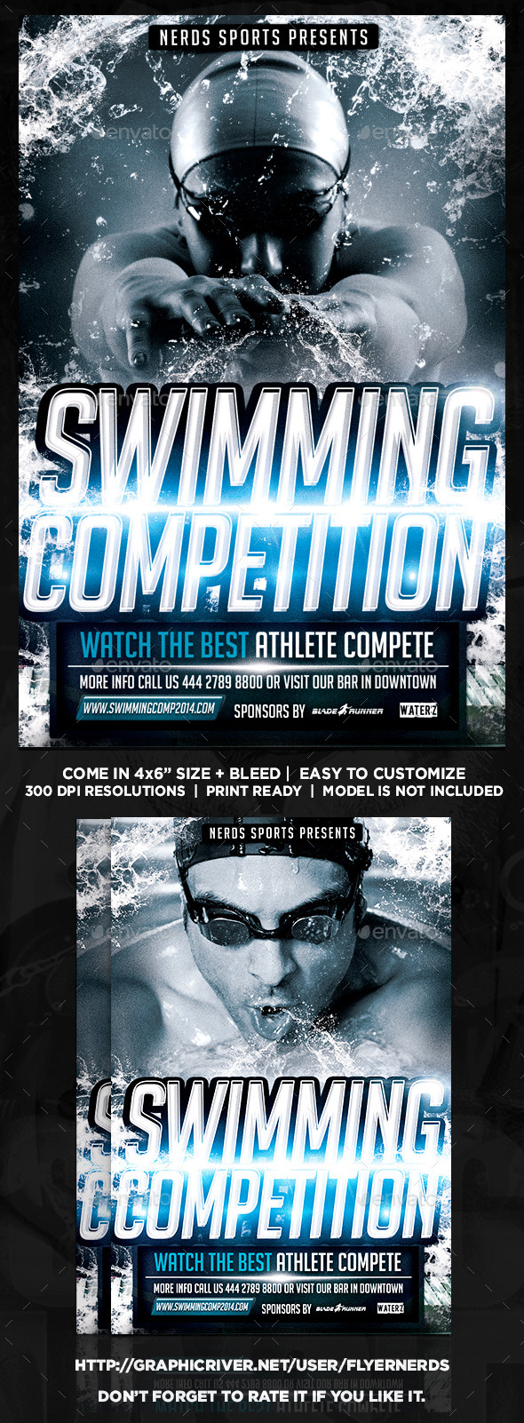 Swimming Competition Flyer - Sports Events