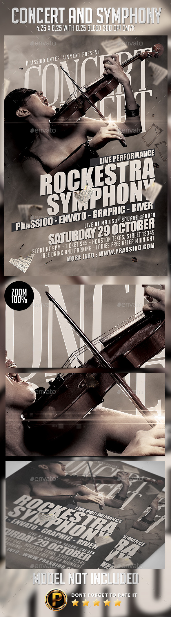 Concert And Symphony Flyer Template - Concerts Events