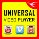Universal Video Player - YouTube/Vimeo/Self-Hosted