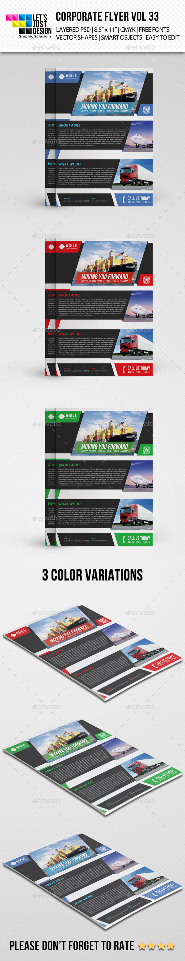 Corporate Flyer Template Vol 33 - Corporate Flyers