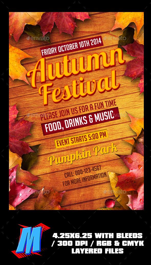 Autumn Festival Flyer Template - Events Flyers