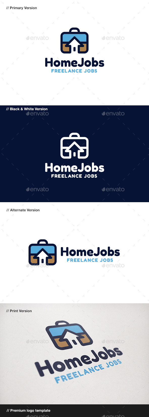 Home Jobs - Objects Logo Templates