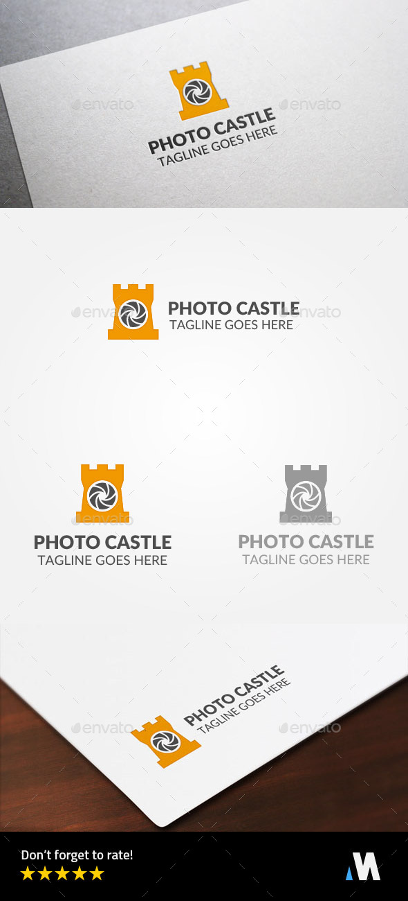 Camera Castle or Photo Guard - Buildings Logo Templates