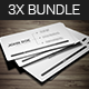 Minimal Business Card Bundle 3X - GraphicRiver Item for Sale