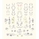 Set of Symmetrical Floral Graphic Design Elements