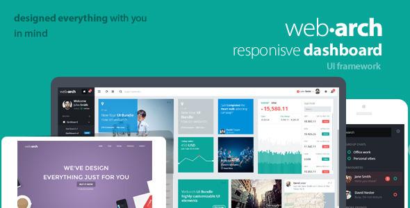 Webarch – Responsive Admin Dashboard Template