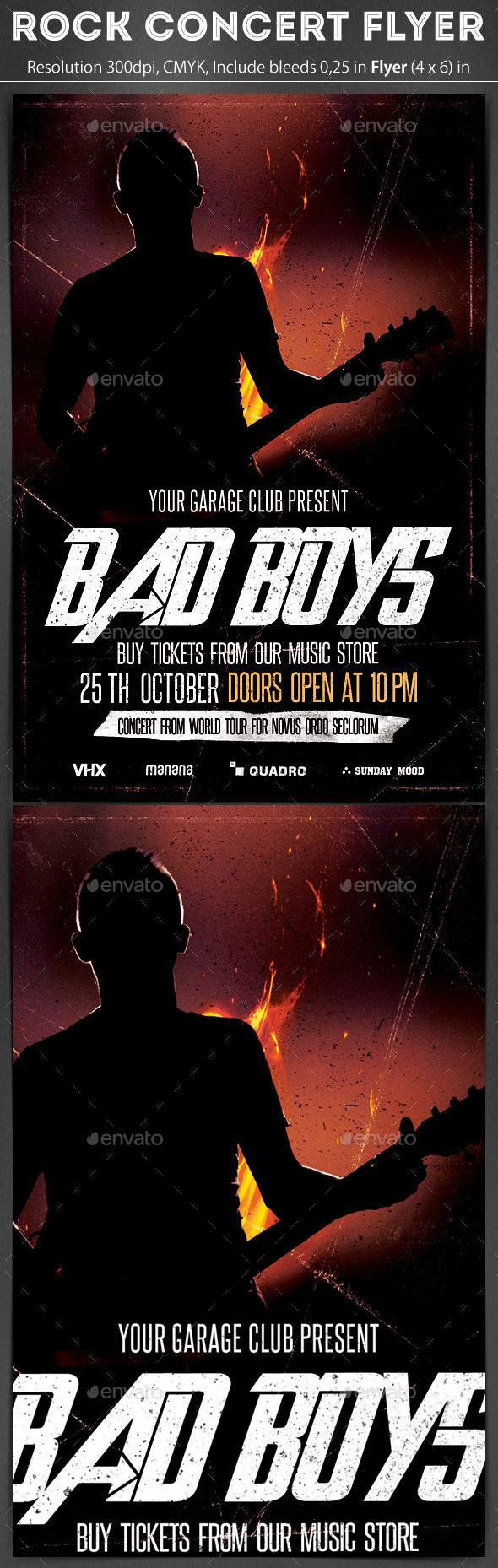 Rock Concert Flyer - Concerts Events