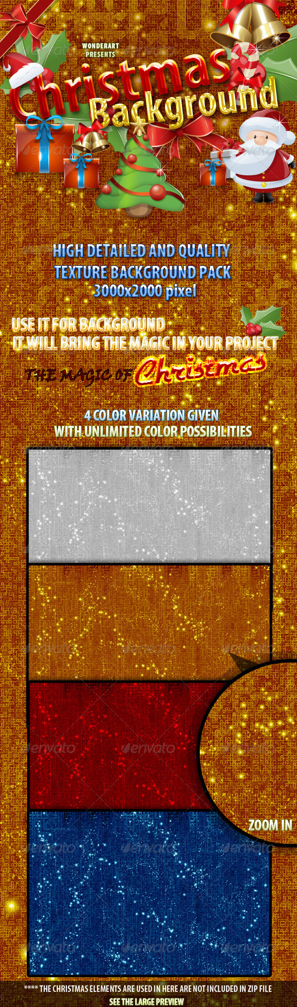 Christmas Background - Textured - Miscellaneous Backgrounds
