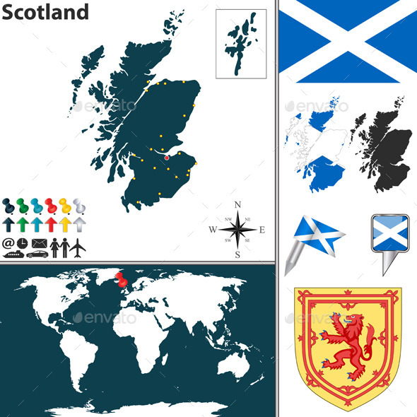 Map of Scotland - Travel Conceptual