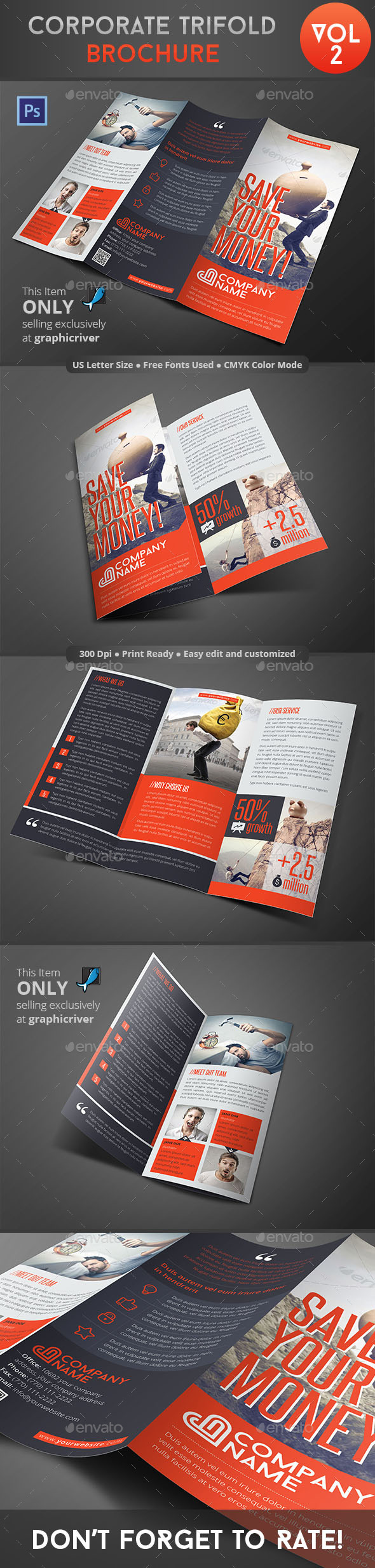 Corporate Trifold Brochure Vol 2 - Corporate Brochures