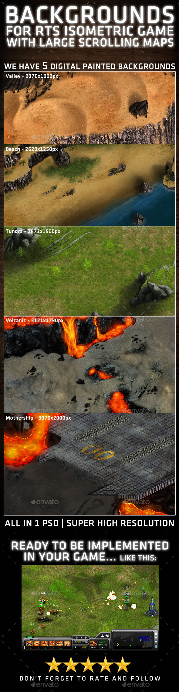RTS Isometric Background - Backgrounds Game Assets
