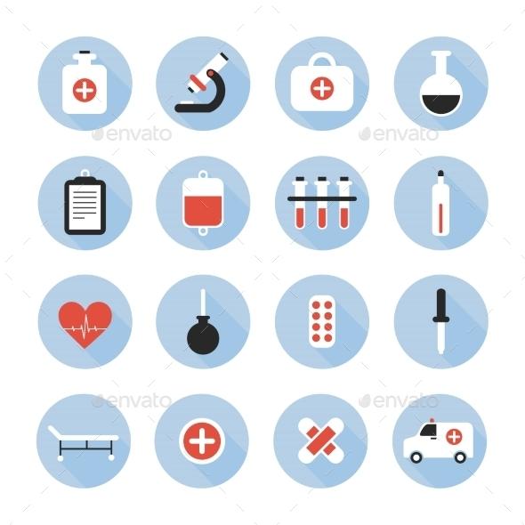 Medical and Health Vector Colourful Icons Set - Health/Medicine Conceptual
