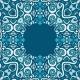 Blue Winter Ethnic Vector Ornamental Frame - GraphicRiver Item for Sale
