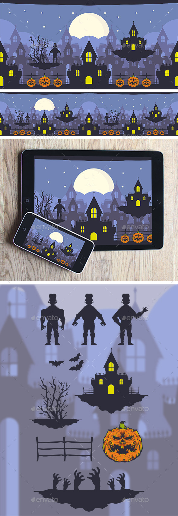 Halloween Game Background - Backgrounds Game Assets