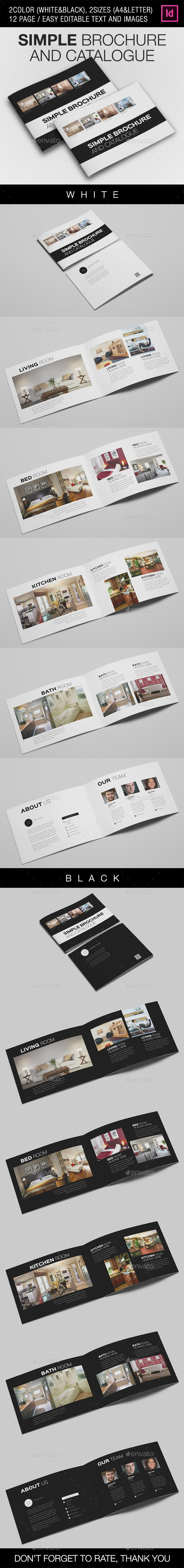 Simple Catalogue/Brochure V.2 - Brochures Print Templates