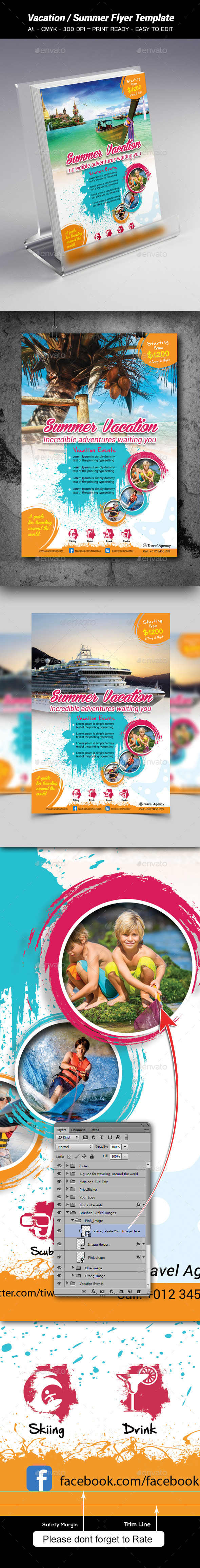 Vacation / Summer Flyer Template - Holidays Events