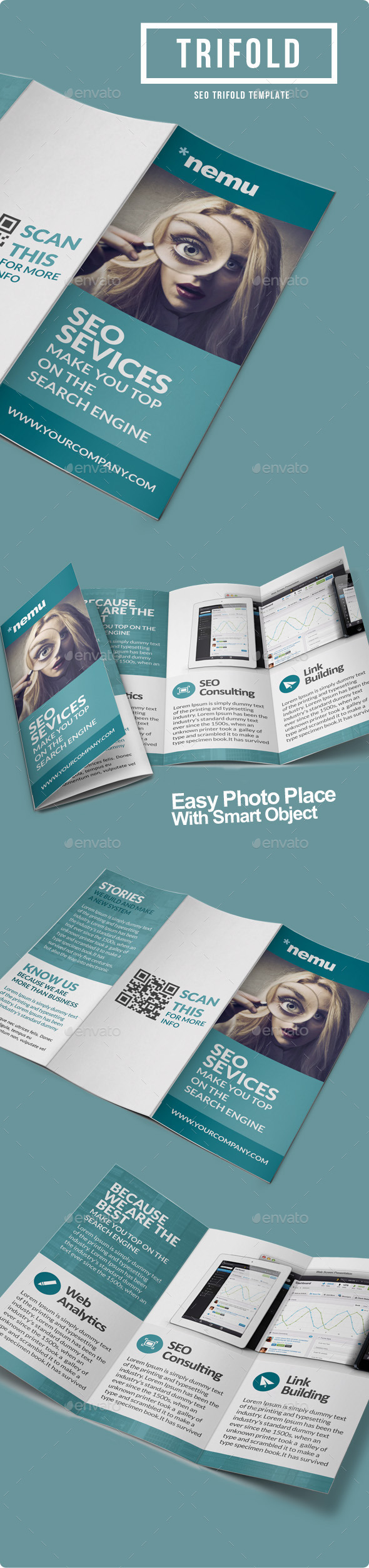 SEO Marketing Trifold Brochure - Informational Brochures