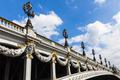 """Alexander III bridge in Paris """" Pont Alexandre III """" - France"""