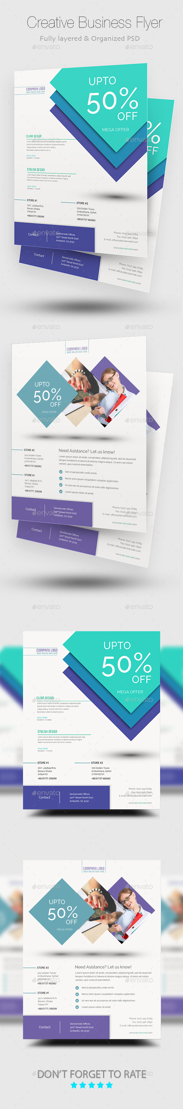 Creative Business Flyer/Poster Templates - Corporate Flyers