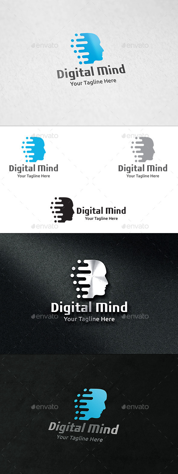 Digital Mind - Logo Template - Humans Logo Templates