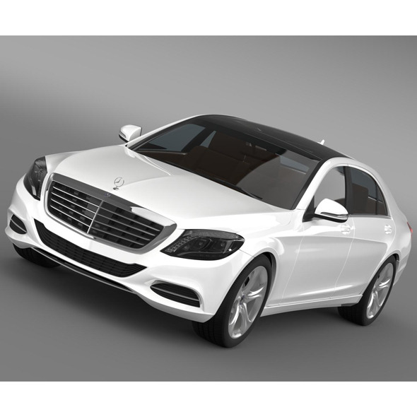 Mercedes Benz S 400 Hybrid W222 2013 - 3DOcean Item for Sale