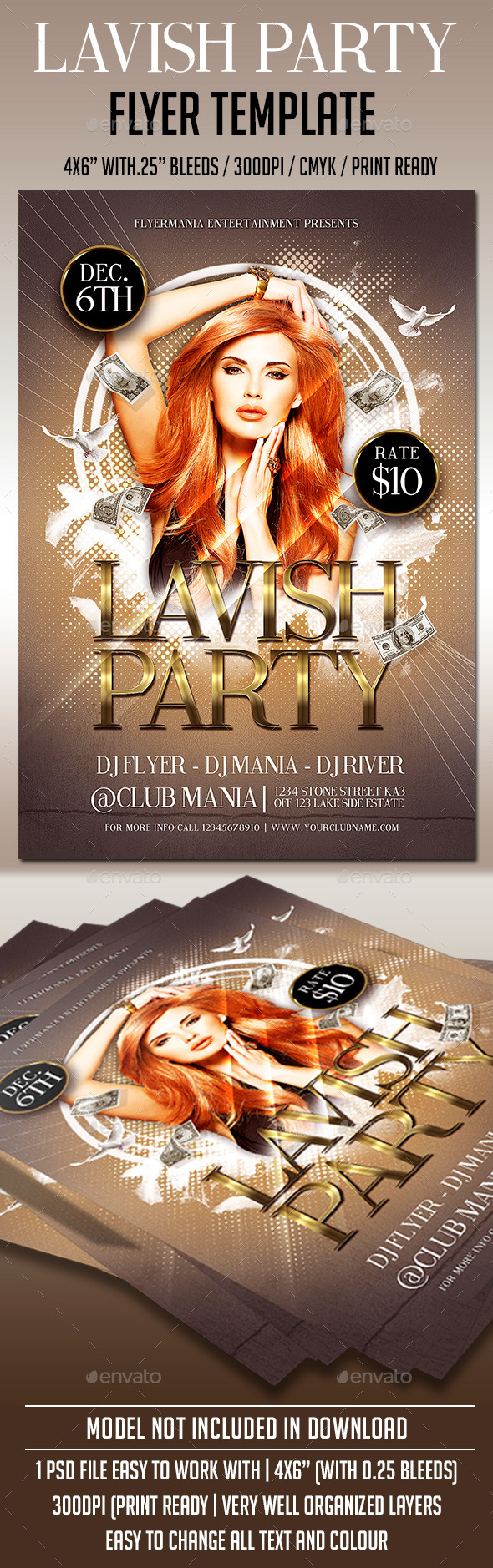 Lavish Party Flyer Template - Clubs & Parties Events