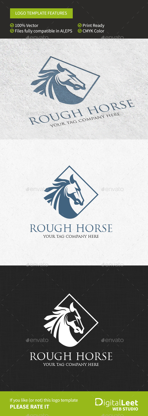 Rough Horse - Logo Template - Animals Logo Templates