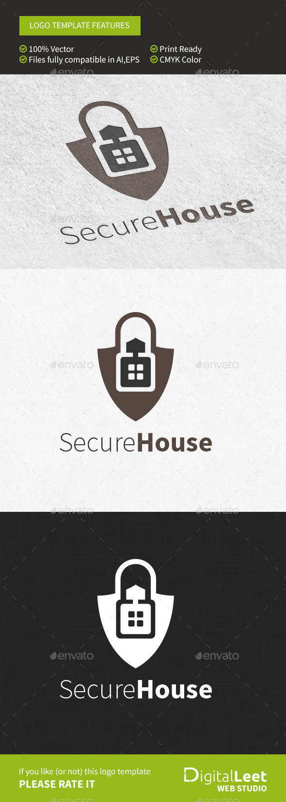 Secure House - Logo Template - Buildings Logo Templates