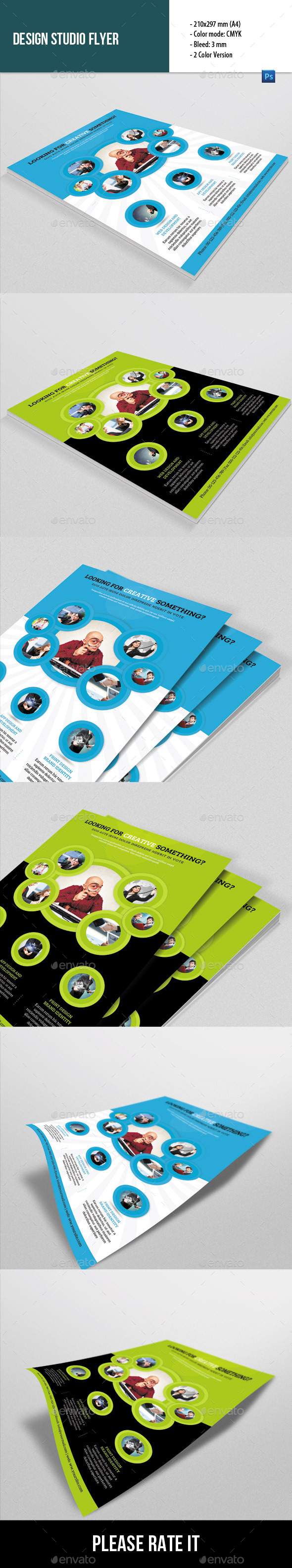 Flyer Template for Design Studio - Corporate Flyers