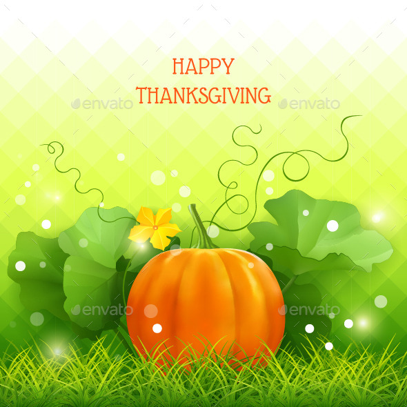 Pumpkin Thanksgiving Card - Seasons/Holidays Conceptual