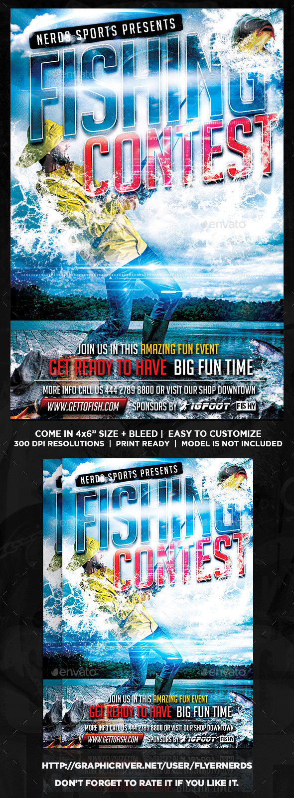Fishing Contest Flyer By Flyernerds Graphicriver